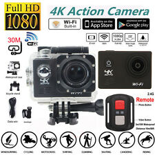 Waterproof 4K Ultra HD 1080P SJ8000R Wifi Sport Action Camera Cam+Remote Control