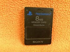 Official Sony PlayStation 2 PS2 8MB Black MagicGate Memory Card Nice FREE SHIP!