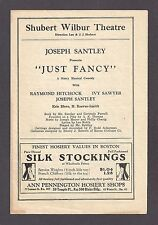 "Raymond Hitchcock ""JUST FANCY"" Joseph Santley / Ivy Sawyer 1928 Boston Program"