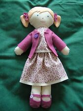 "Handcrafted Rag Doll -""cherry"" - Vintage Laura Ashley Fabric"