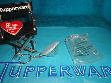 TUPPERWARE REFLECTIONS ICE PRISMS BOWL # 1306 KEYCHAIN / KEY RING