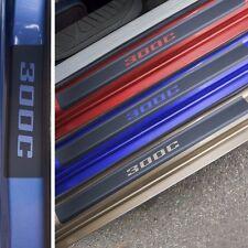 Chrysler 300C Door Sill Plate Protector Black Matte Vinyl Year 2008 2014 2016