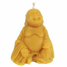 Happy Buddha Hotei Laughing Fat Pure Beeswax Candle Statue Buddhism Lucky 4.25""