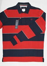 M&S Mens Blue Harbour Supersoft Rugby Polo Shirt Red Mix Size X Large BNWT