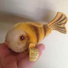 "Steiff Vintage Flossy Fish -Mohair-13cm - 4.5"" Long W/ID NICE Buy Now NO RESERVE"