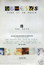 "GENESIS ""TURN IT ON AGAIN-THE HITS"" UK PROMO POSTER -Phil Collins, Peter Gabriel"