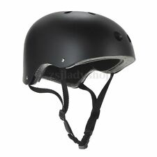 Matt Black Bike Bicycle Scooter Roller Derby Skate Skateboard BMX Helmet Size M