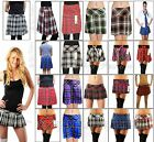 "SEXY TARTAN MICRO MINI SKIRT CHECK PLEATED SHORT SKIRT 9"" 12"" 14"" 16"" 18"""