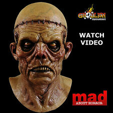 Deluxe FRANKENSTEIN Zombie Latex Collectors Mask-HALLOWEEN Horror Monster SCARY!