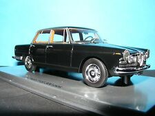 ALFA ROMEO 2600 4 DOOR BERLINA 1962 in BlACK  with Tan Leather  1:43 Scale KESS