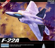 Academy 12423 Plastic Model Kit 1/72 F-22A Raptor Air Dominance Fighter NEW