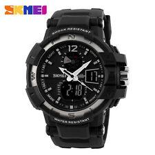 SKMEI Men's LED Digital Rubber Amry Sport Wrist Watch Waterproof Alarm Chrono