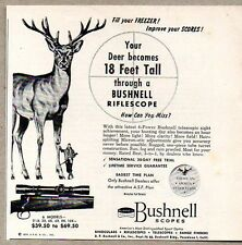 1954 Print Ad Bushnell Rifle Scope Hunting Scopes Pasadena,CA
