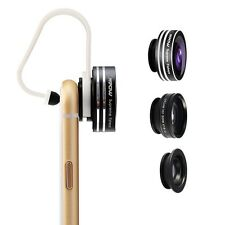 Mpow 3in1 Clip-On 180 Degree Fisheye +Wide Angle +Macro Lens for iPhone 6S 6 5S