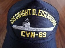 USS DWIGHT D EISENHOWER CVN-69 NAVY SHIP HAT U.S MILITARY OFFICIAL  CAP USA MADE