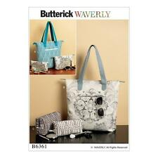 BUTTERICK SEWING PATTERN WAVERLY TOTE BAG & POUCHES B6361