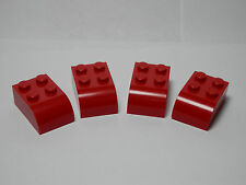 LEGO Set of 4 New Modified Bricks 2 x 3 with Curved Top Red Star Wars 2013 12-16