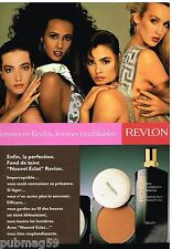 Publicité Advertising 1988 Cosmétique Maquillage Revlon