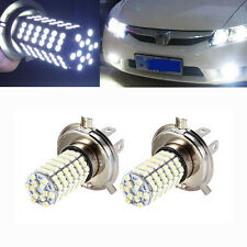 2x Car H4 9003 HB2 3528 120-SMD High Low Beam LED Fog Light Headlight Lamp White