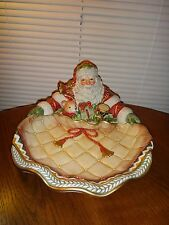 New~FITZ AND FLOYD HOLIDAY~SANTA CLAUS~CHRISTMAS NEW YEAR SERVING DISH