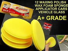 12X  BUY BULK WAXING POLISH WAX FOAM SPONGE APPLICATOR CARS VEHICLE GLASS