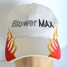BlowerMax Hat 2008 Chevy Silverado Truck White Flames Mens Baseball Ball Cap Lid