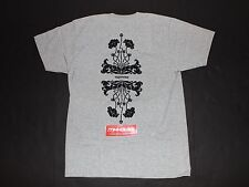 New Supreme Floral Tee T-Shirt Top Flower Grey Gray Fall Winter 2015 Size Large