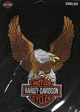 """Harley Davidson Up Wing Eagle Brown Patch Large 10.5 X 7 3/4"""""""