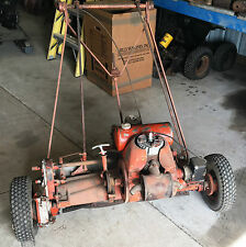 Antique Jacobsen 4 acre power reel lawn mower engine runs