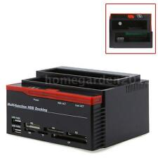 "Multi-Function 2.5""/3.5"" USB 2.0 1x SATA IDE HDD Docking Station Clone HUB C9E3"