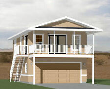 20x32 House -- 2 Bedroom -- 4:12 Roof Pitch -- PDF Floor Plan -- Model 7I