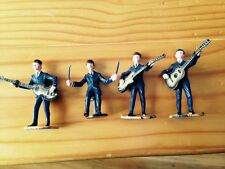 THE BEATLES Subbuteo  FAB FOUR.  VERY RARE 1963 PLASTIC FIGURES & 4 CAKE TOPPERS