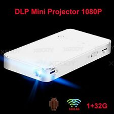 32G Full HD 1080P DLP Mini Home Theater Projector T18 portable Dual wifi Android