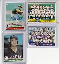 1979 Topps # 554 As Matt Keough  signed autograph with COA