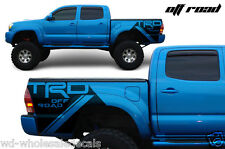 Vinyl Rear Side Decal TRD OFFROAD Wrap Kit for Toyota Tacoma 05-13 Matte Black