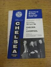 16/04/1965 Chelsea v Liverpool  (Creased, Writing On Cover). This item has been