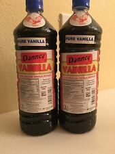 Two (2) Danncy Pure Mexican Vanilla Extract - Dark (1 Liter - Each)