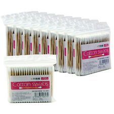 1000Pcs Cotton Swabs Swab Applicator Q-tip Sturdy Extra-long Wood Handle Makeup
