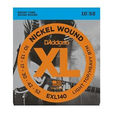 D'addario EXL140 Nickel Wound Electric Strings 10-52, Light Top/Heavy Bottom