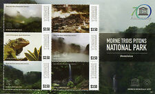 Dominica 2015 MNH UNESCO Morne Trois Pitons National Park 6v M/S Lizards Iguana
