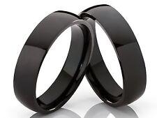 2 Negros Anillos de pareja Anillo de compromiso Anillo amistad & Gravado gratis