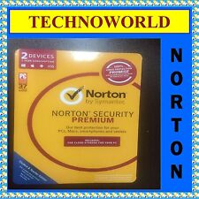 SYMANTEC NORTON SECURITY PREMIUM 3.0 2GB 2 DEVICE 1 YEAR PC MAC PHONE TABLET