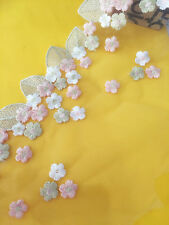 1 Yard Embroidered Lace Edge Trim Tulle Mesh Wedding Dress Sewing DIY Craft
