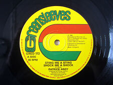"Patrick Andy Sting Me A Sting ♫LISTEN♫ Greensleeves UK 12"" GRED172 1985"