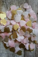 1200 Baby Rosa e Oro & Bianco Scalloped Heart Wedding gettare CORIANDOLI / Decorazione