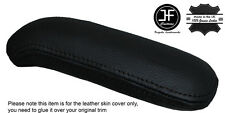 BLACK STITCHING ARMREST LEATHER COVER FITS AUDI TT TTS TTRS 2007-2014