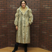 WHOLESALE PRICE SALE! MONTANA real BOBCAT spotted LYNX CAT faux FUR COAT! med