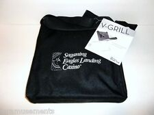 Bar B Que V-Grill Cook Stove-With Casino Tote-Portable Travel-Camp-Tailgate BBQ