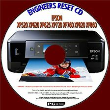 EPSON XP520 XP620 XP625 XP720 XP760 XP820 PRINTER WASTE INK PAD RESET PC DISC