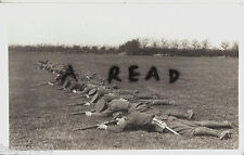 WW1 Soldier group KCB Kent Cyclist Battalion lying prone during Field Manoeuvres